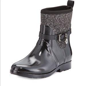 Michael kors charm stretch short rain boots 9